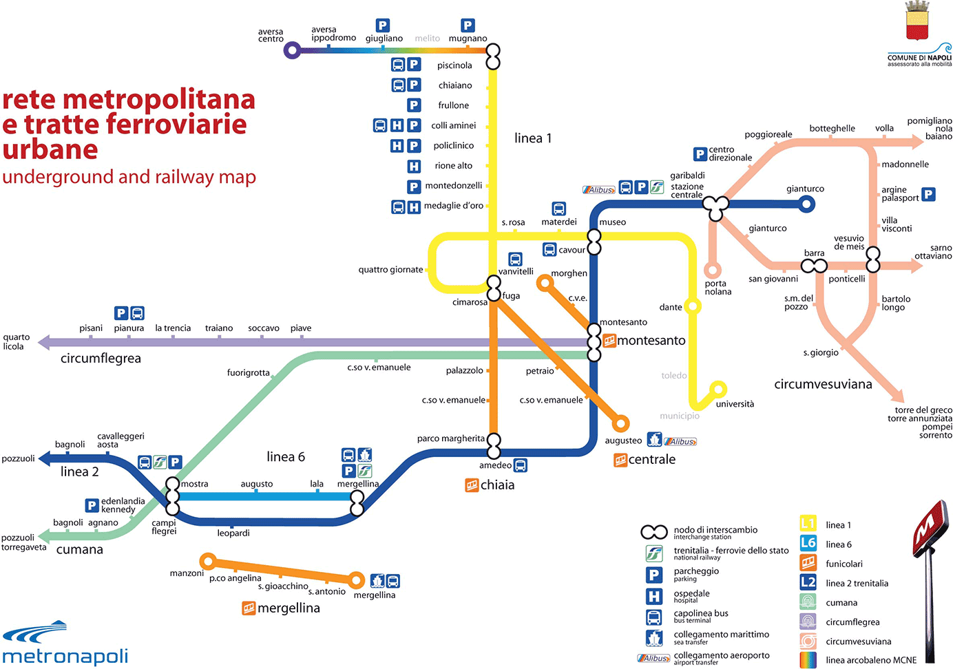 rete metropolitana di napoli