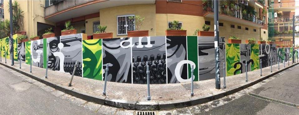 murales in memoria di giancarlo a napoli