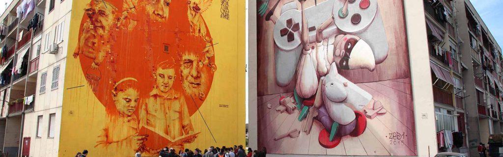 il parco dei murale a napoli