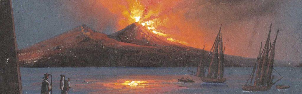 l'eruzione del vulcano vesuvio di napoli