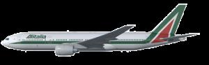 aereo della compagnia aerea alitalia
