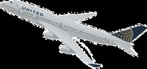 aereo della united airline per i voli napoli new york