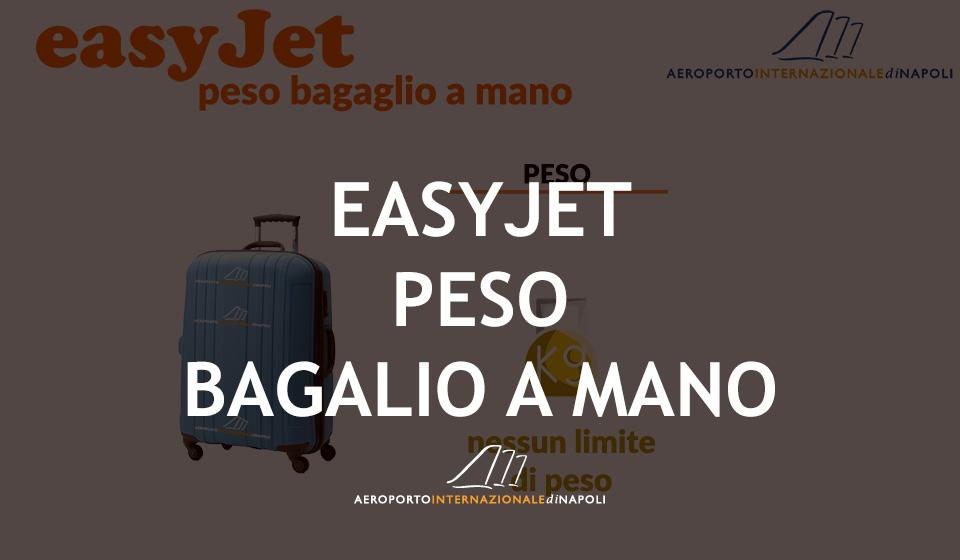 peso del bagaglio a mano sui voli easyjet