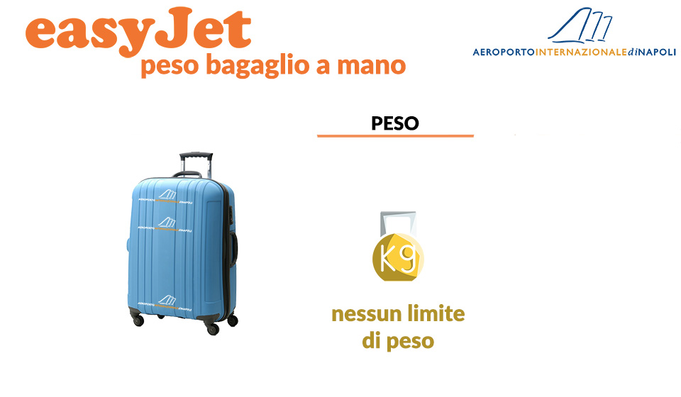 peso dei bagagli a mano di easyJet
