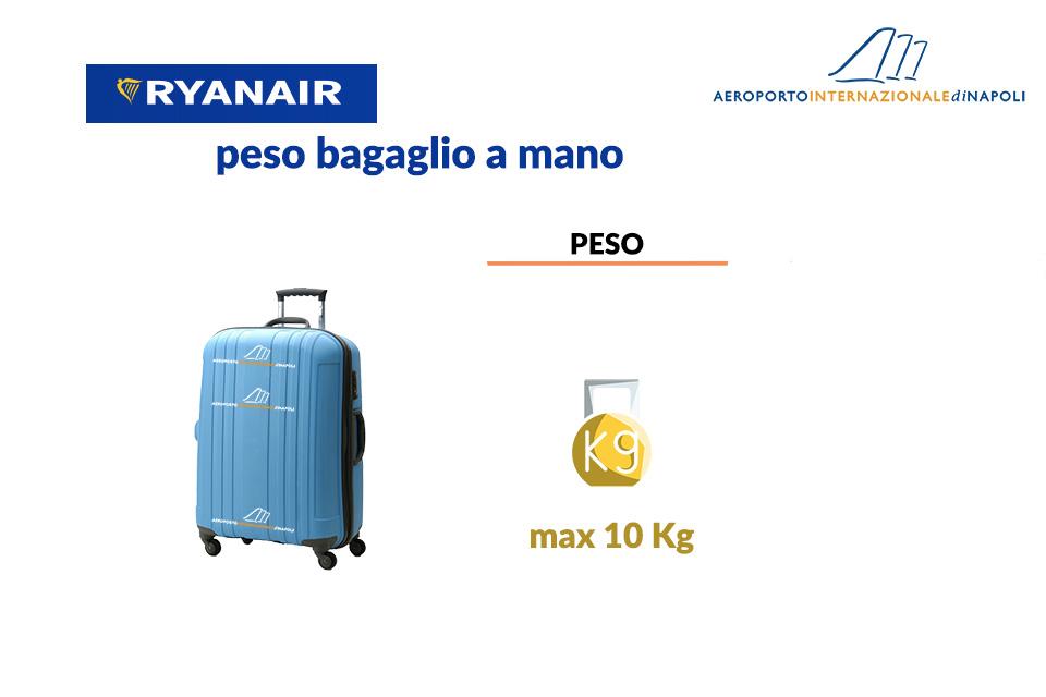 il peso del bagaglio a mano della compagnia aerea ryanair