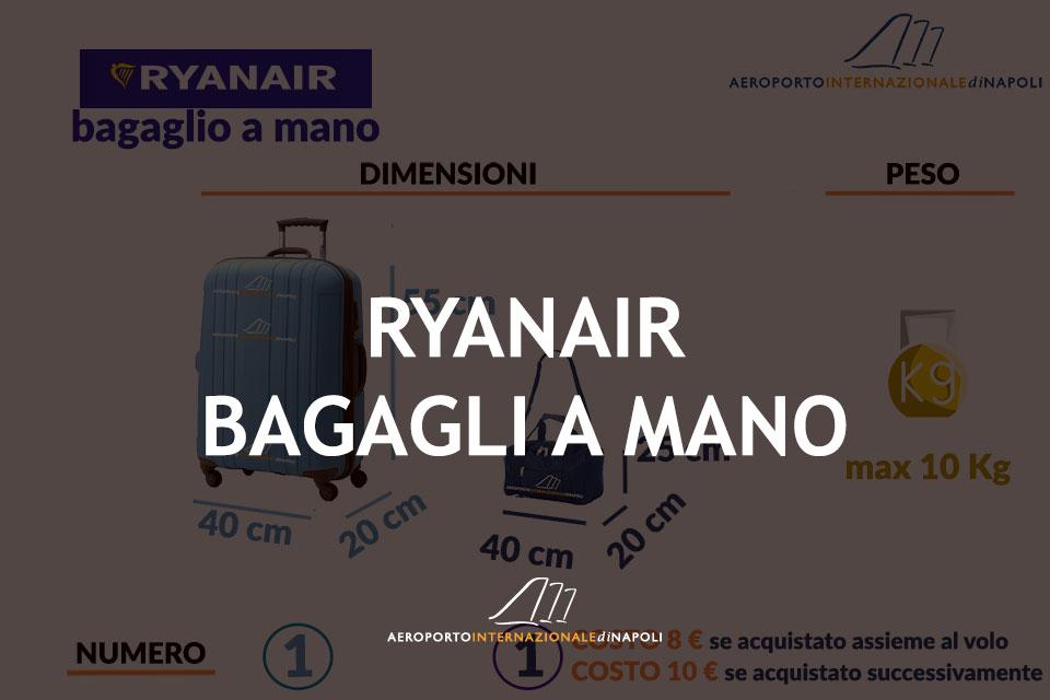 info sui bagagli a mano del vettore ryanair