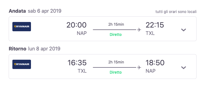 voli low cost napoli berlino a 51€