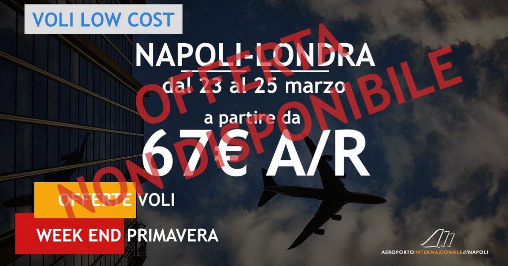 voli low cost napoli londra a 67€