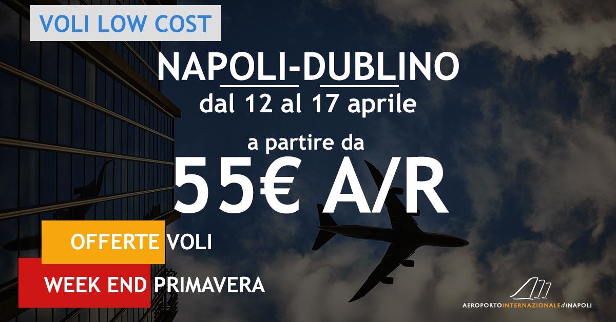 voli low cost napoli dublino a 55€