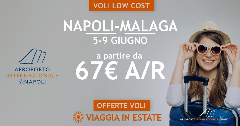 low cost voli napoli malaga