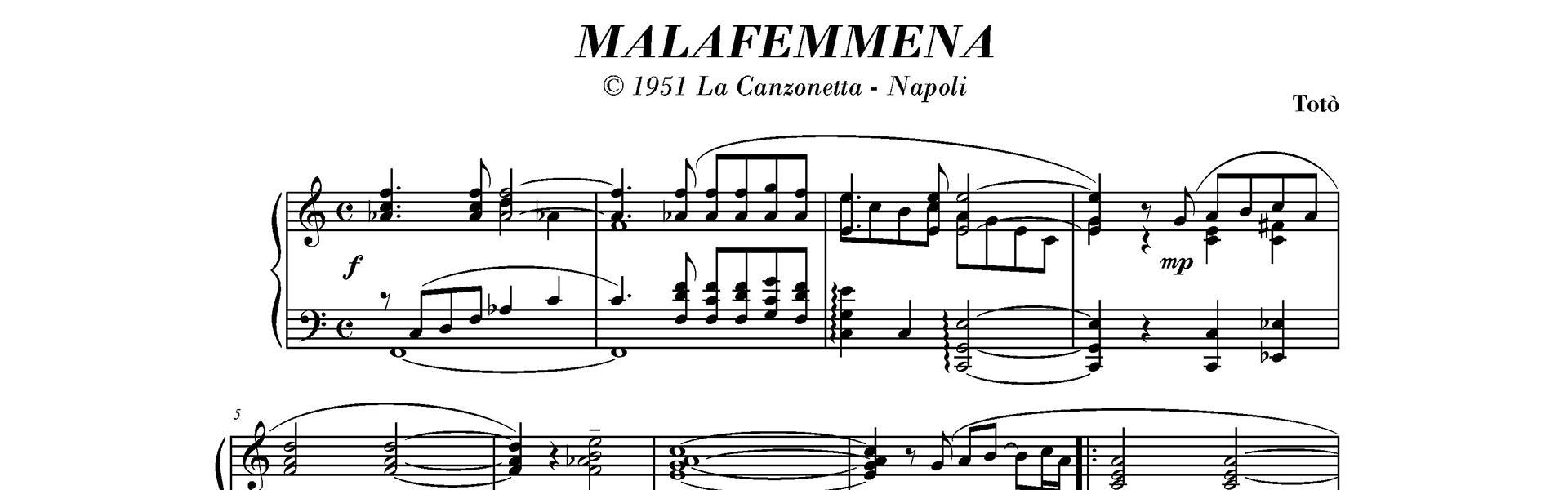 malafemmena di totò, la canzone più famosa di totò