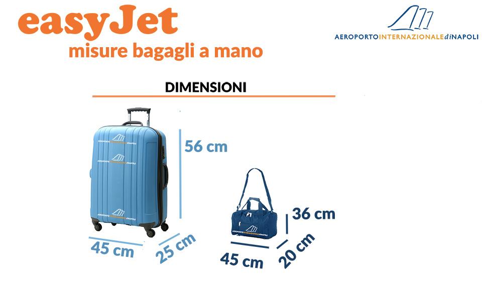 misure dei bagagli a mano di easyJet