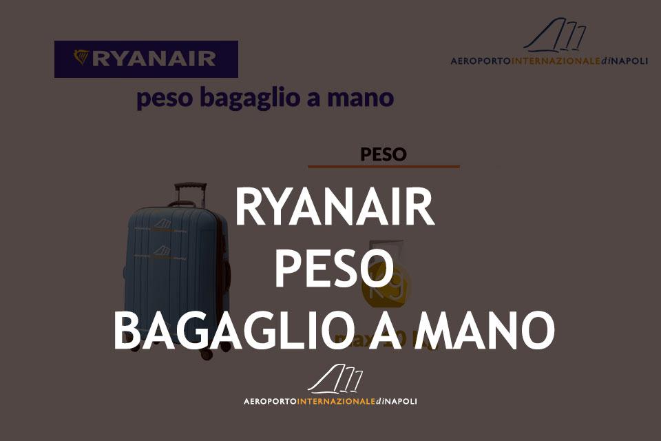 info sul peso del bagaglio a mano ryanair