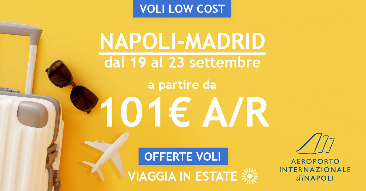 low cost voli napoli madrid